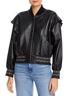 Joie Temis Ruffled Leather Jacket