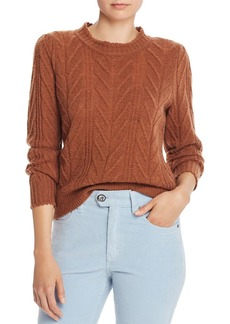 Joie Tenzin Chevron-Knit Wool-Blend Sweater