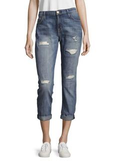Current/Elliott The Flirt Cropped Boyfriend-Fit Jeans