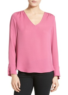 Joie Theda V-Neck Silk Blouse