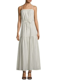 Theodorine Striped Cotton Maxi Dress