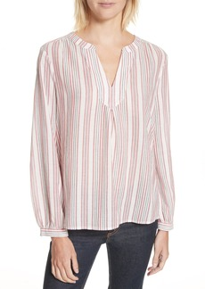 Joie Theoline Stripe Cotton Blouse
