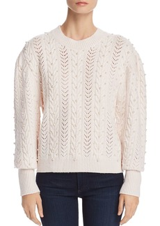 Joie Tinala Embellished Pointelle Sweater