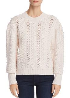 Joie Tinala Embellished Pointelle Sweater