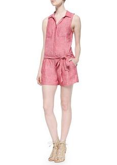 Joie Toinette Sleeveless Linen Short Jumpsuit