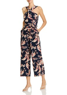 Joie Trenity Cotton Printed Sleeveless Cropped Wide-Leg Jumpsuit
