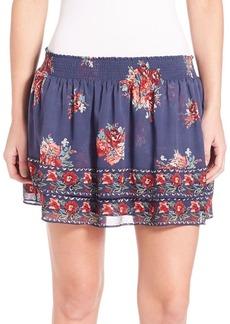 Joie Turnley Hacienda Floral Printed Skirt
