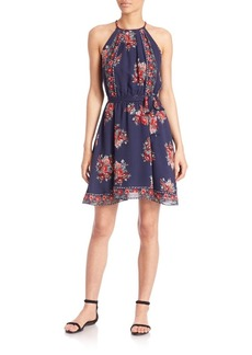 Joie Valetta Silk Floral-Print Dress