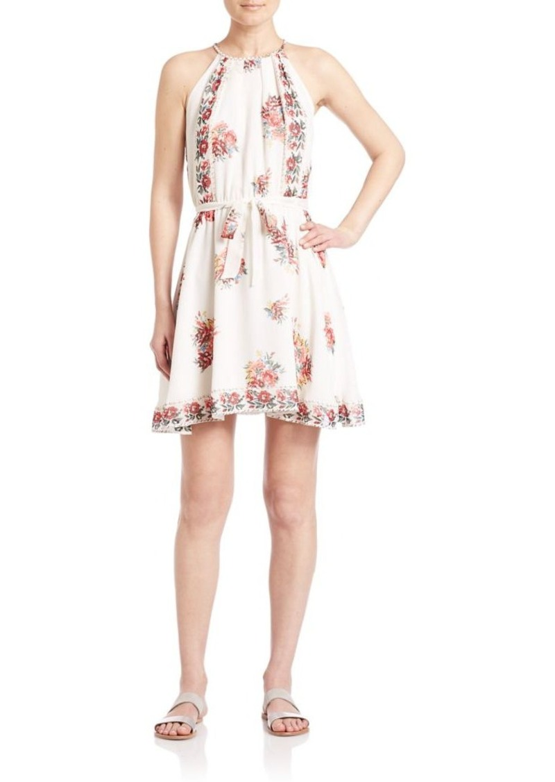 Joie Valetta Silk Floral-Print Dress