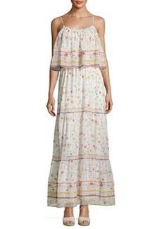 Joie Vernita Floral-Print Popover Maxi Dress