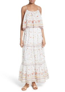 Joie Vernita Popover Bodice Silk Maxi Dress