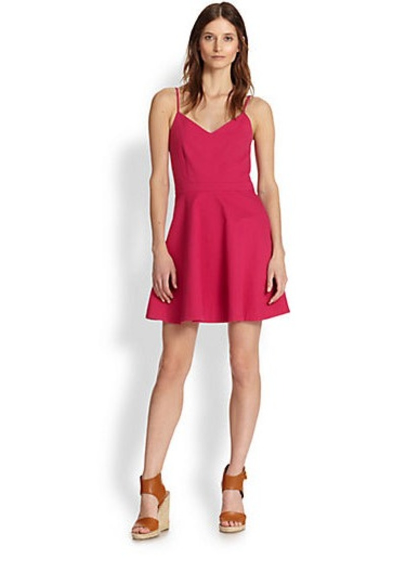 Joie Viernan Stretch Cotton Fit-&-Flare Dress