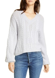 Joie Vinita Cable Knit Lambswool Blend Sweater