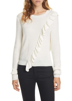 Joie Viviana Ruffle Wool Blend Sweater