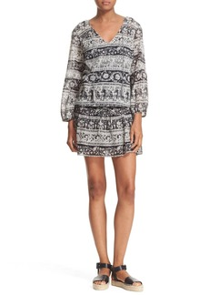 Joie 'Vork' Print Cotton Blouson Dress