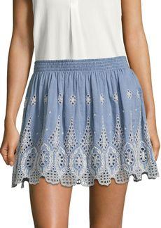 Joie Wanita Embroidered Eyelet Mini Skirt