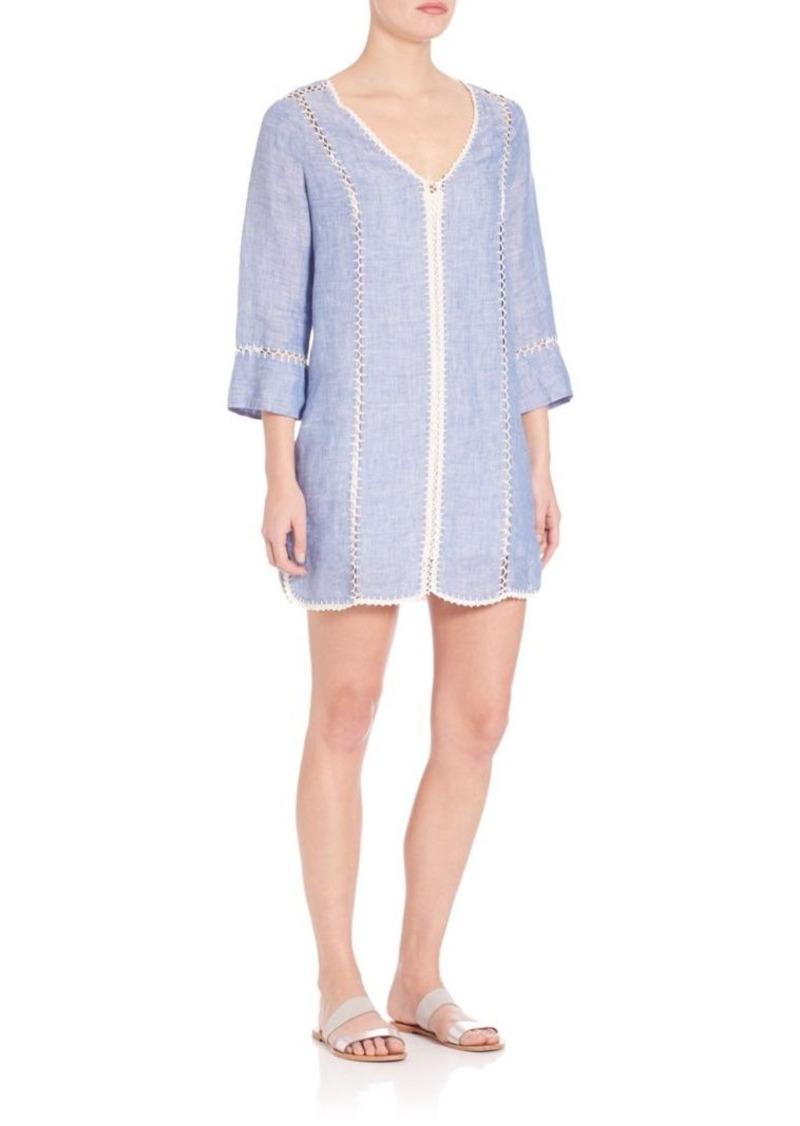 Joie Warby Cross-Dyed Linen Dress