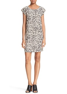 Joie 'Weaver' Leopard Print Silk Shift Dress