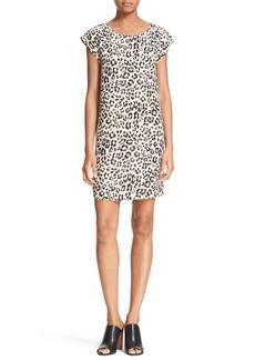 Joie 'Weaver' Leopard Print Silk Shift Dress