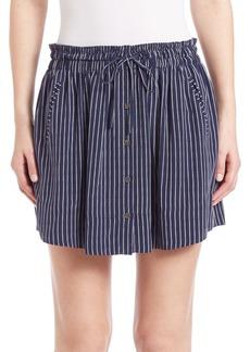 Joie Wendolyn Striped Silk Skirt