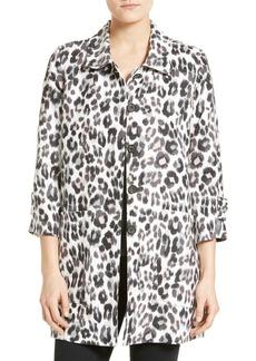 Joie Wes Leopard Print Linen Jacket