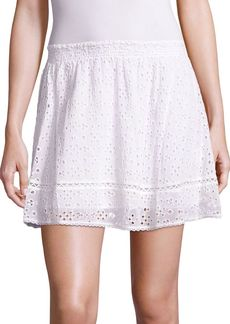 Joie Willems Cotton Voile Eyelet Skirt