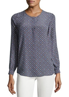 Joie Wilmington Dot-Print Silk Blouse