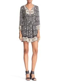 Joie 'Winfield' Print Silk Peasant Dress