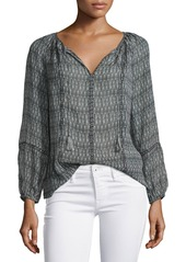 Joie Winther Mixed-Print Georgette Top