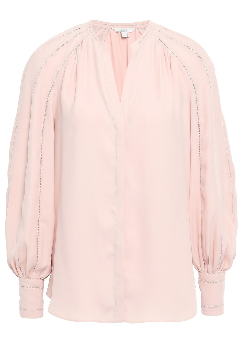 Joie Woman Aban Gathered Crepe De Chine Blouse Blush