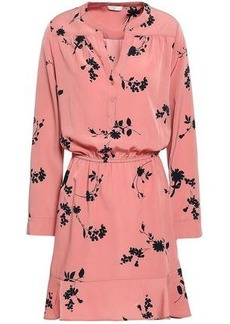 Joie Woman Acey Floral-print Washed-crepe Mini Dress Antique Rose