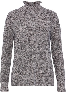 Joie Woman Adaliz Marled Cotton And Cashmere-blend Sweater Gray