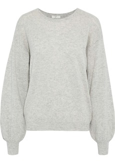 Joie Woman Airic Split-back Wool And Cashmere-blend Sweater Light Gray