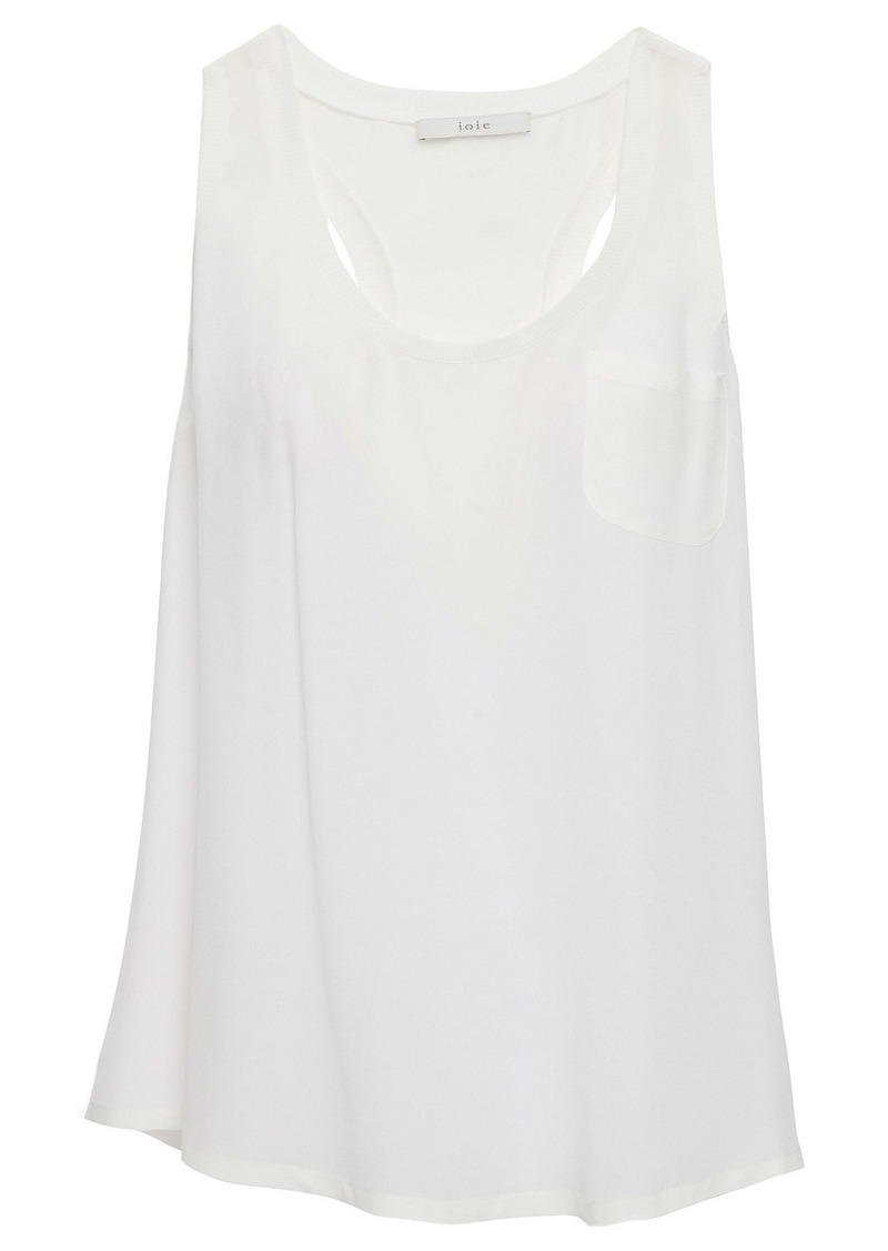 Joie Woman Alicia Washed-silk Tank Off-white
