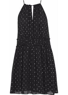 Joie Woman Althia B Fil Coupé Silk-blend Georgette Mini Dress Black