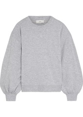 Joie Woman Andela Metallic-trimmed Mélange Fleece Sweatshirt Light Gray