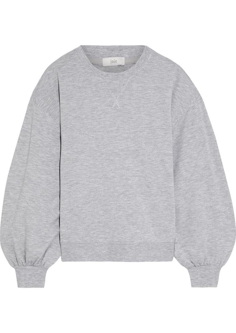 Joie Woman Andela Metallic-trimmed Mélange Fleece Sweatshirt Light Gray