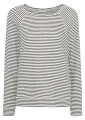 Joie Woman Annora B Striped Jersey Top Gray