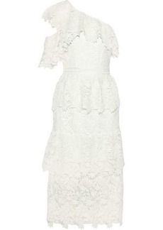db4981c7cef2 Joie Woman Belisa One-shoulder Tiered Guipure Lace Midi Dress White