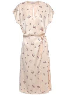 Joie Woman Bethwyn B Printed Silk-charmeuse Wrap Dress Blush