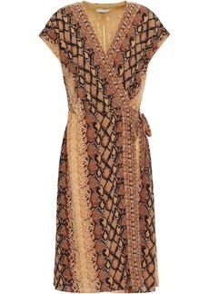 Joie Woman Bethwyn C Snake-print Crepe De Chine Wrap Dress Animal Print