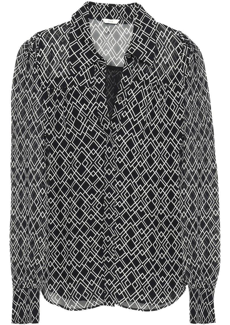 Joie Woman Bimala Printed Silk-georgette Shirt Black