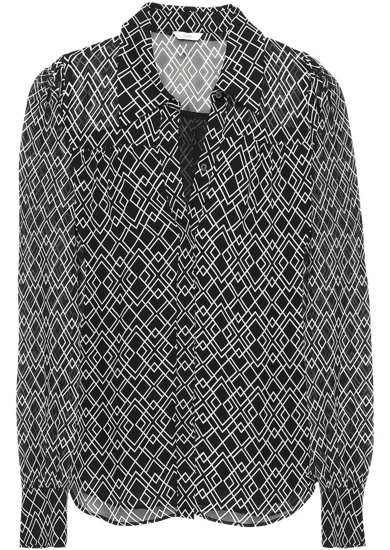 Joie Woman Bimala Printed Silk-georgette Shirt Black
