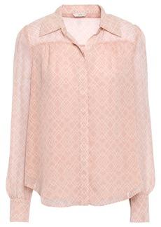 Joie Woman Bimala Printed Silk-georgette Shirt Blush