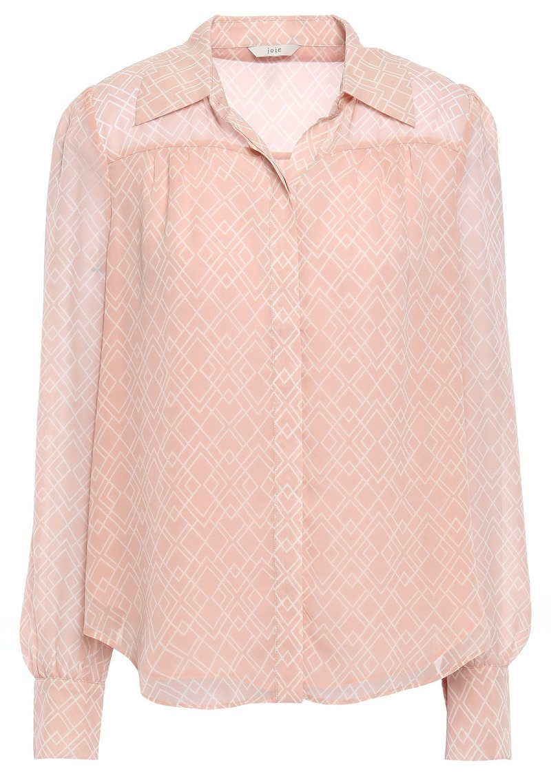 Joie Woman Bimala Printed Silk-georgette Shirt Blush