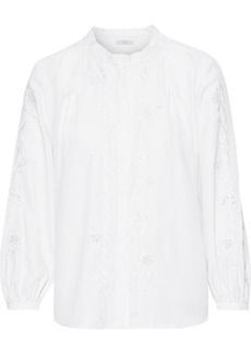 Joie Woman Broderie Anglaise Crepe De Chine Blouse Ivory