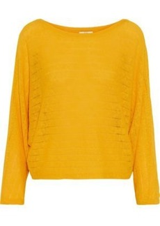 Joie Woman Brooklynn Ramie And Cotton-blend Sweater Mustard