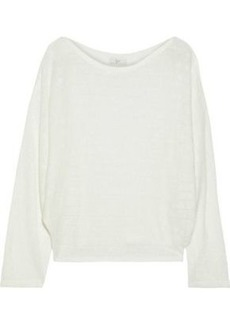 Joie Woman Brooklynn Ramie And Cotton-blend Sweater White