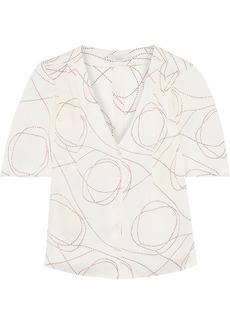 Joie Woman Cadell B Printed Crepe De Chine Blouse Peach