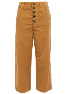 Joie Woman Cassedy Cropped Cotton-blend Twill Straight-leg Pants Camel